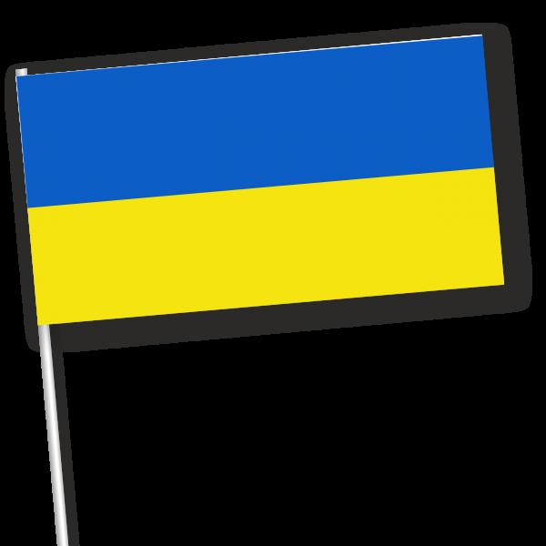 papieren zwaaivlag Oekraïne 11x21cm