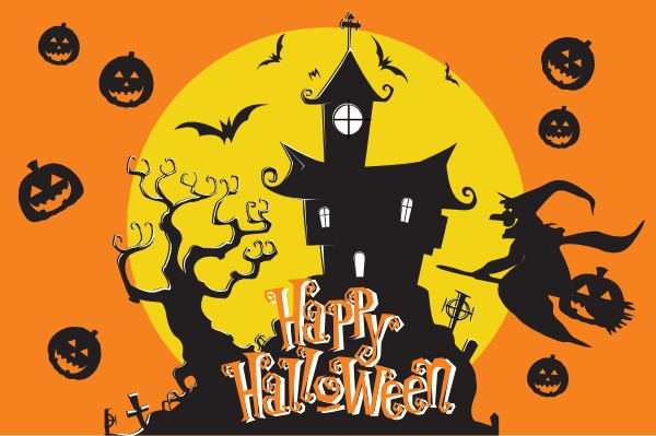 Happy Halloween vlag Moonlightvlag