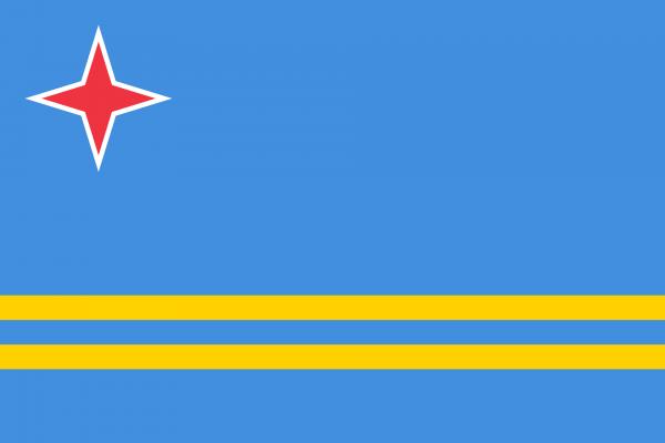 Vlag Aruba 100x150cm Glanspoly