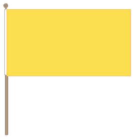 Zwaaivlag geel 30x45cm met stok van 60cm