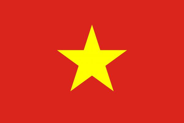 Tafelvlag Vietnam met standaard