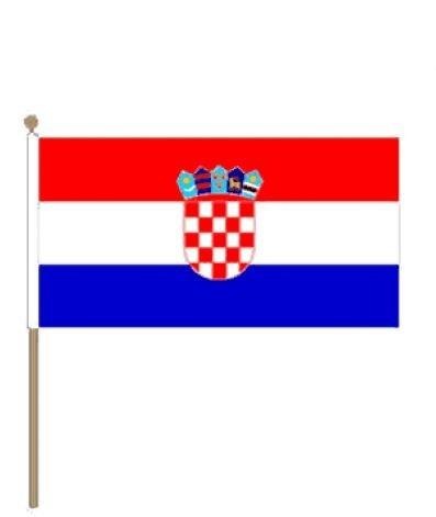 Zwaaivlag Kroatië Kroatische zwaaivlaggetje15x22,5cm