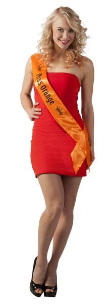Oranje Sjerp Miss Oranje laat zien dat je voor oranje bent