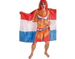 Oranje vlag poncho Nederland Maid Oranje EK | WK en Koningsdag 150x100 cm