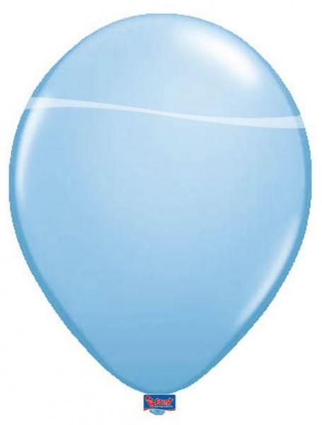 ballon lichtblauw metallic babyblauw 30cm groot 12 inch
