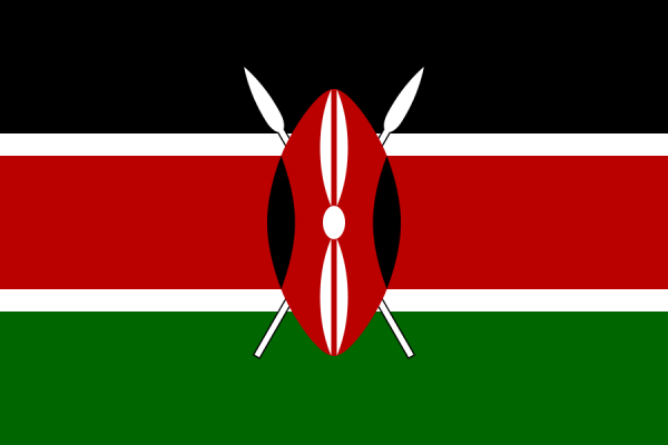 Tafelvlaggen Kenia 10x15cm | Keniaaanse tafelvlag