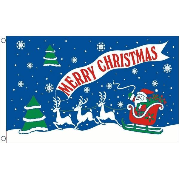 Kerstvlag Merry Christmas 60x90cm