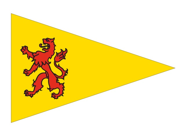 Puntvlag Zuid-Holland 20x30cm Puntvlaggetje
