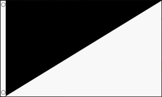 Vlag zwart/wit diagonaal, racevlag 60x90cm Best Value