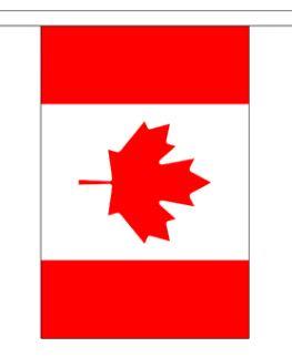 Vlaggenlijn Canada 9m, stof