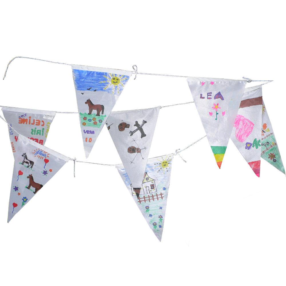 Vlaggenlijn wimpels verjaardags pakket maak je eigen vlaggenlijn