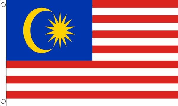Vlag Maleisië 60x90cm