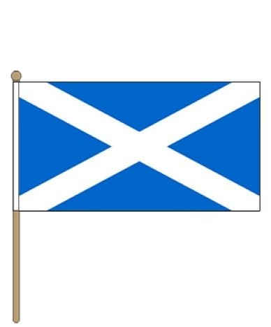 Zwaaivlag Schotland, Schotse zwaaivlaggen 30x45cm stoklengte 60cm