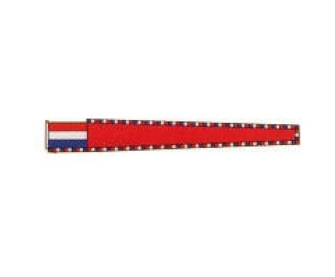 Vleugel rood getekend 200cm masttopwimpel