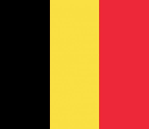 Tafelvlag Belgie met standaard