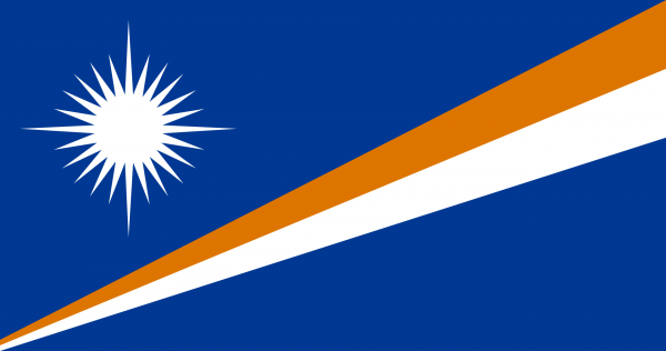 Vlag Marshalleilanden 100x150cm Glanspoly