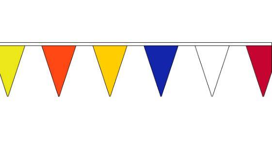 Vlaggenlijn vrolijke kleuren 20m