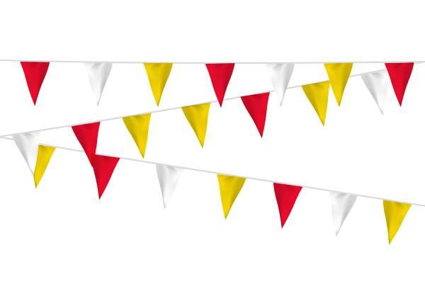 Vlaggenlijn Rood Wit Geel 20m1 Carnaval Oeteldonk Brandvertragend B1