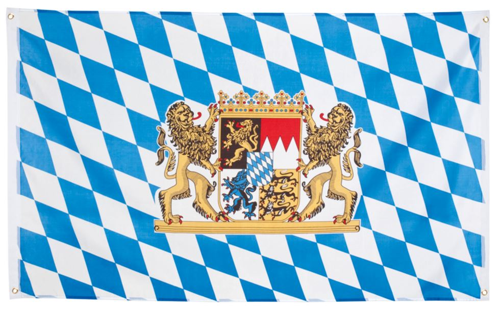 Beierse vlag 90x150 Geblokte vlag voor Oktoberfest