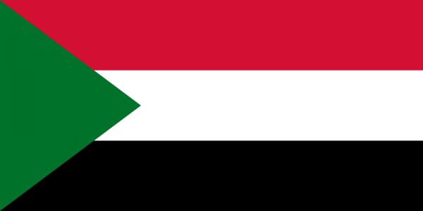 Vlag Soedan 100x150cm Glanspoly
