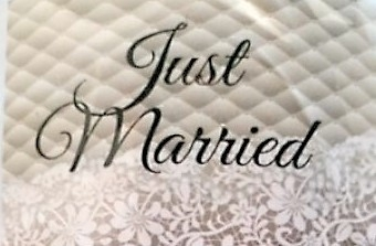 Just Married autovlag 30x45cm