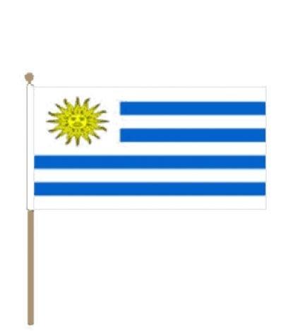 zwaaivlag Uruguay 15x22,5cm met stoklengte van 30cm