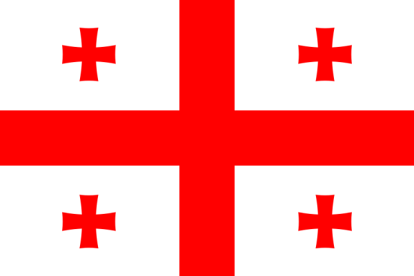 vlag Georgië   Georgische vlaggen 100x150cm gevelvlag