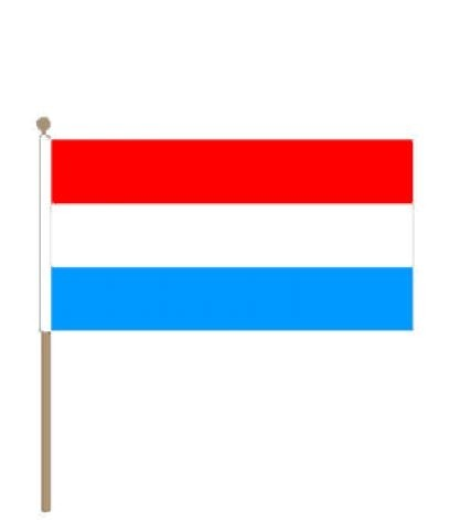 Zwaaivlag Luxemburg, 15x22,5cm stoklengte 30cm