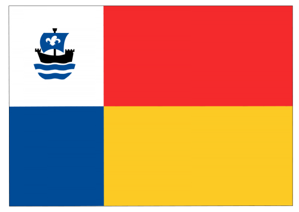 Vlag gemeente Almere   Almeerder vlaggen 100x150cm gevelvlag