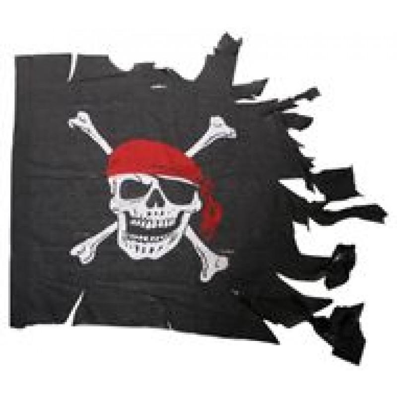 Piratenvlag gehavend 70x85cm