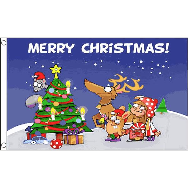 Vlag Kerstmis Vrolijk kerstfeest 90x150cm kopen bij Vlaggenclub Kerstvlag