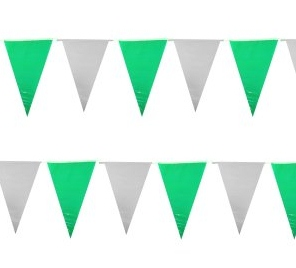 Vlaggenlijn Groen Wit 6m