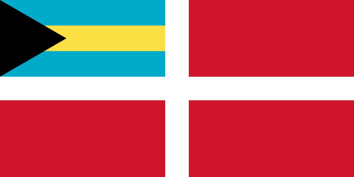 koopvaardij vlag Bahama's 20x30cm gastenvlag