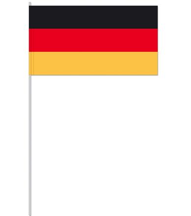 zwaaivlag Duitsland | Duitsland zwaaivlaggen 17x20cm plastic