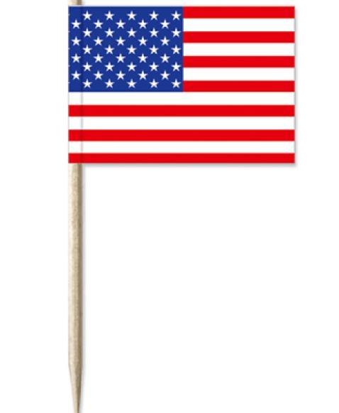 Kaasprikkers Amerika, USA cocktailprikkers VS, 50 stuks