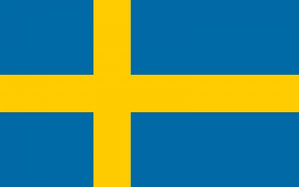 Tafelvlaggen Zweden 10x15cm | Zweedse tafelvlag
