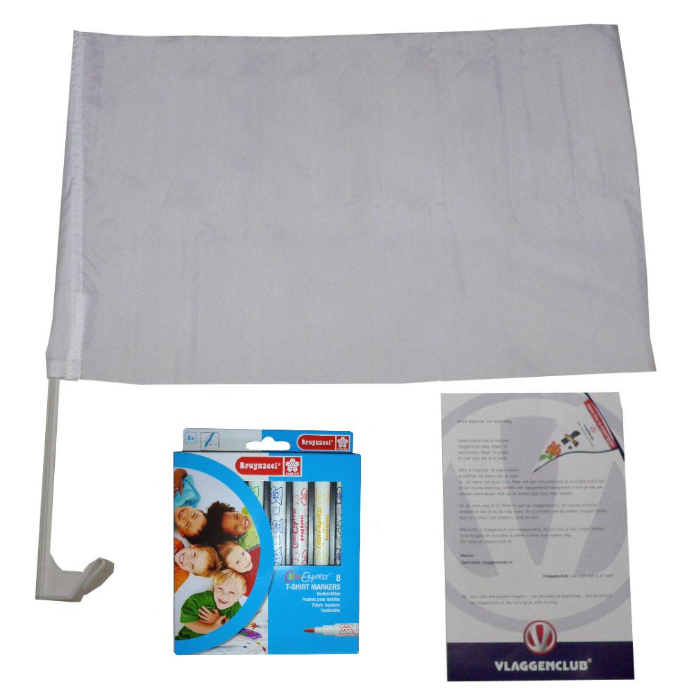 Maak je eigen autovlag met het Vlaggenclub pakket