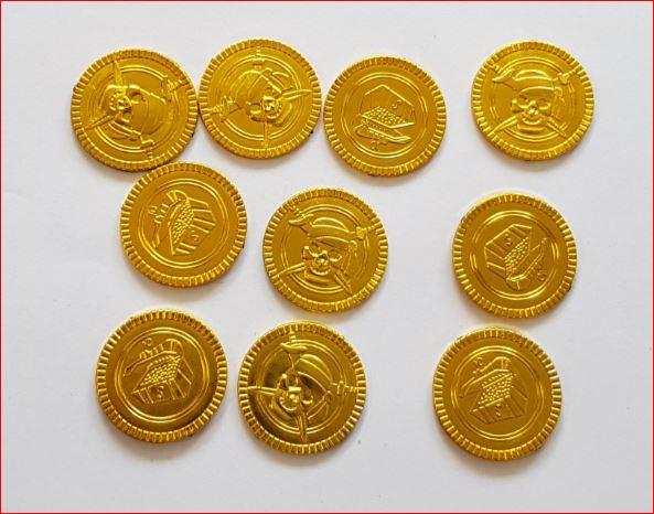 Piraten goudstukken 144 stuks Gouden dukaten munten schat