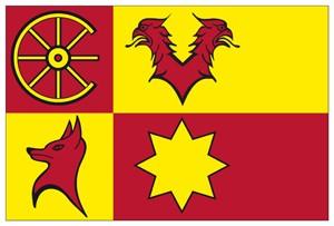 Vlag gemeente Nieuwkoop 20x30cm Nieuwkoopse vlaggen