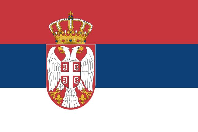 Servische vlag 30x45cm