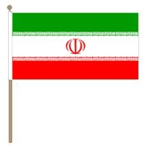 Zwaaivlag Iran 30x45, stoklengte 60cm