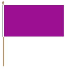 Zwaaivlag paars 30x45cm met stok van 60cm