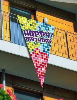 Wimpelvlag Hayppy Birthday 90x150cm vlag