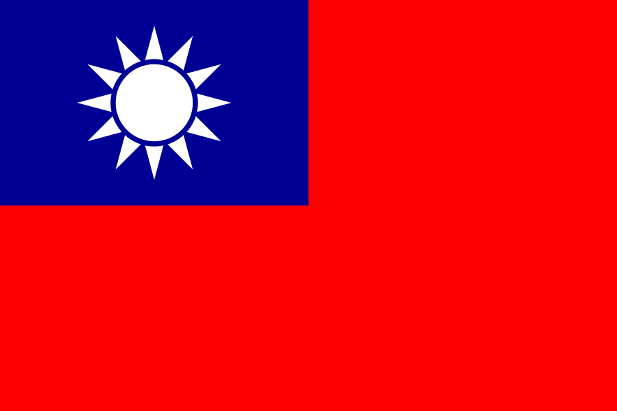 Taiwanese vlaggen | vlag Taiwan 150x225cm mastvlag