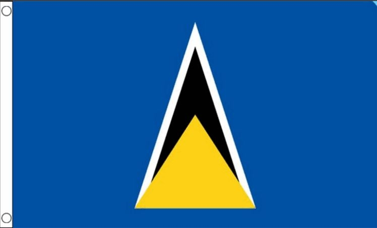 vlag saint lucia 90x150cm best value