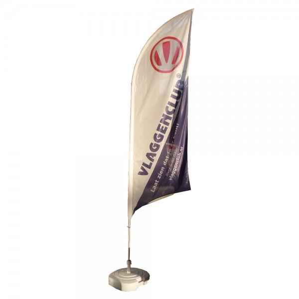Beachvlaggen bedrukken met uw reclame formaat Medium