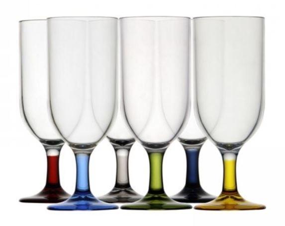 Luxe mini champagneglazen set 6 stuks meerkleurig