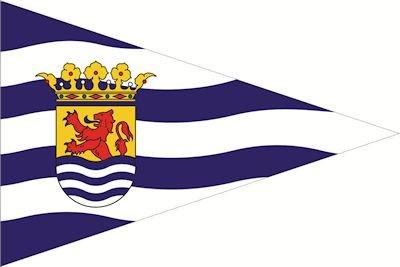 Zeeuwse puntvlag | wimpel Zeeland 30x45cm