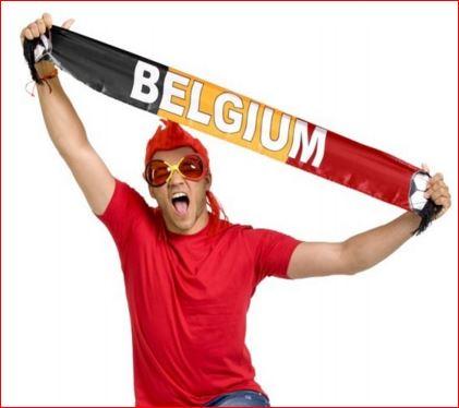 Shawl Belgie Fan Sjaal met Belgische vlag