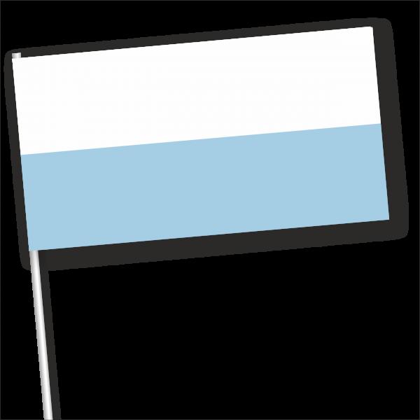 Zwaaivlag San Marino zonder wapen 11x21cm papier